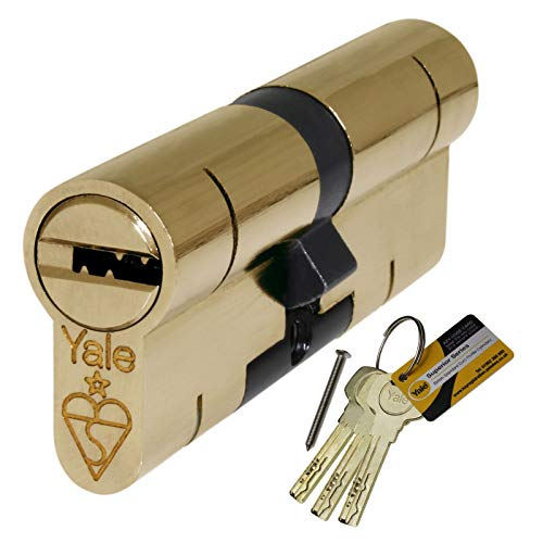 40/45 Brass YALE Superior Euro Cylinder with 5 Keys Anti Snap/Bump/Pick/Drill/Pull High Security uPVC Composite Door Barrel Profile Lock