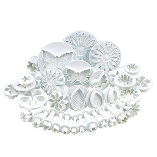 Non Branded Lot de 33 Emporte Piece Fleur - Patisserie Accessoires Professionnel - Moulle à Gateau Patisserie Accessoire Enfant