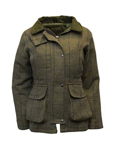 Walker & Hawkes - Ladies Derby Tweed Shooting Country Jacket - Navy Tweed - 14