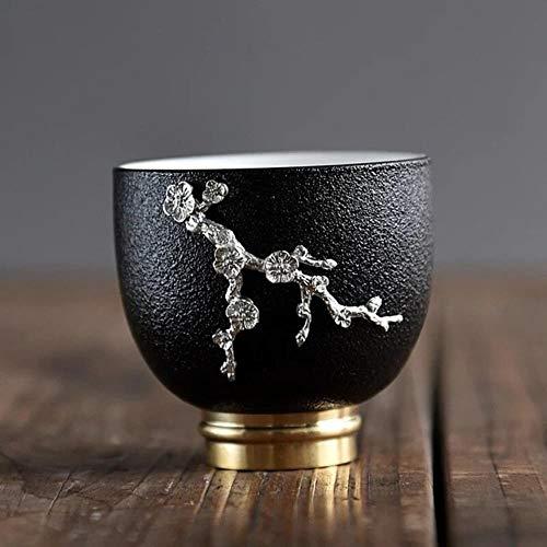 Viner Wit Porselein Koperen Kung Fu Master Cup Persoonlijke Thee Keramische Cup Chinese Thee Set Vrije Tijd Huishoudelijke Goederen, Oranje