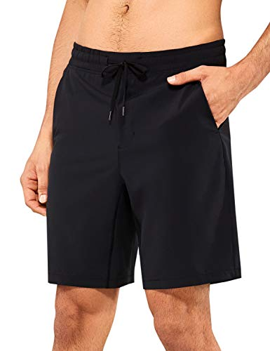 CRZ YOGA Men's Workout Shorts - 7''/9'' Quick Dry Running Dry Fit Sports Athletic Shorts with Pockets Black Large