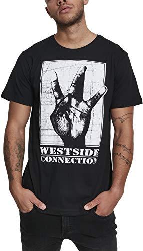 MERCHCODE Herren Westside Connection T-Shirt, Black, M