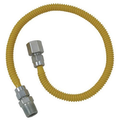 BRASS CRAFT SERVICE PARTS - 24-Inch 1/4 I.D. x 3/8-Inch O.D. Stainless-Steel Gas Appliance Connector