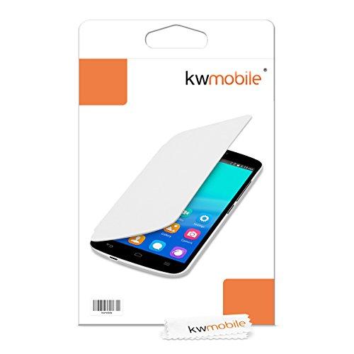 kwmobile Flip Case Hülle für Huawei Honor Holly - Aufklappbare Schutzhülle Tasche im Flip Cover Style in Weiß - 6