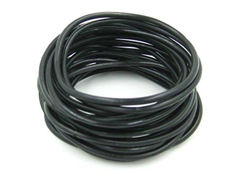 20 Piece Black Rubber Gummy Bracelets Silicone Jelly Wristbands
