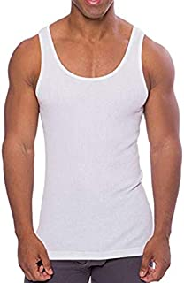 Extra Thin Tagless White Cotton Undershirt for Men, Crew Neck Tank Tops, A-Shirt Tank Top, White Vest in Men and Teenagers Underwear…