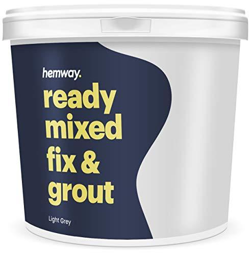 Hemway Hochwertige Fertigmischung Fixierer und Fugenmörtel, 4,5 kg, 2,5 l, grau