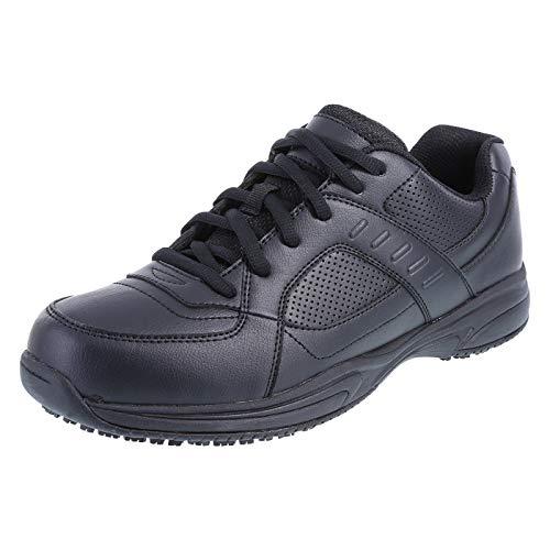 safeTstep Black Men's Slip Resistant Zeus Athletic 13 Regular