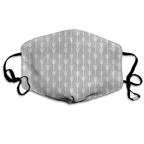 Pañuelo para la cara con patrón geométrico de flecha continua, diseño monocromático, a prueba de sol, a la moda, bandana