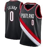 Portland Trail Blazers #0 Damian Lillard #3 Mccollum Camiseta de Jugador de Baloncesto para Hombres, Camiseta con Bordado, Camiseta de los fanáticos, Chaleco Transpirable Deportivas Jersey,6,S