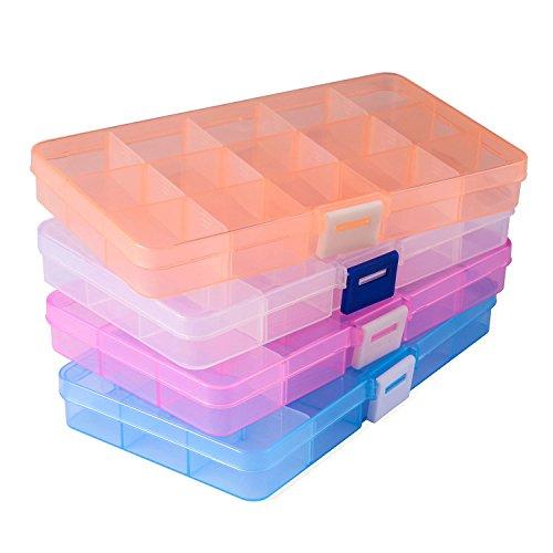 Opret 4 Pack Caja Almacenamiento Caja Compartimentos