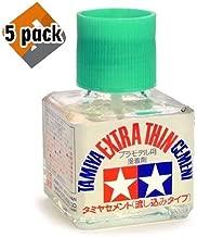 Tamiya 87038 Extra Thin Cement Glue Fine Tip 40ml - 5 Pack