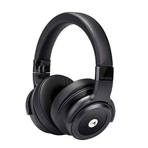 Motorola Escape 800 Wireless Active Noise Cancelling Headphones - ANC Bluetooth Headset with Mic, Soft Cushions - HD Sound, Deep Bass, 12-Hour Playtime, IPX4 Waterproof, Works with Voice Assistants