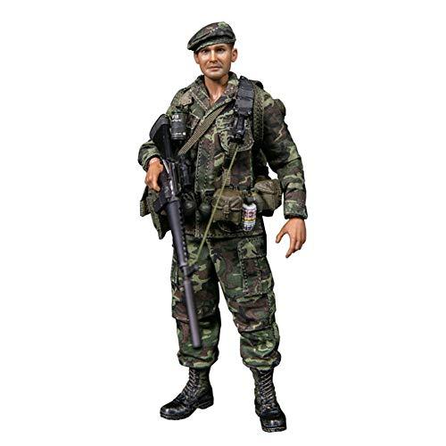 Delili 1/12 Action-Figur, Vietnam-Krieg US Marine Force Recon Special Forces Army Man Action-Figuren Spielset