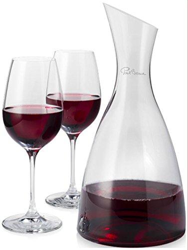 PAUL BOCUSE Decanter con 2 bicchieri da vino Prestige