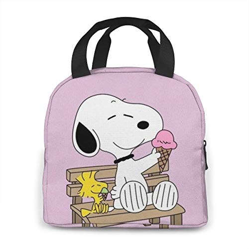 OAbear Snoopy ice cream Lunch Bag Leakproof Reusable Insulated Cooler Lunch Bags for Women Men Work Beach Fishing Picnic