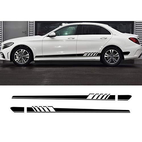 vitesurz Auto Pegatinas de Calcomanías Body Stripe Lateral, para Mercedes Benz W205 W212 W204 W203 W210 W213 W220 W221 W222 W124 W126 W140 W168 W169 W176, Pegatinas de Coche Tuning