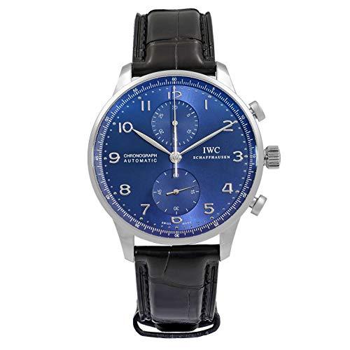 IWC Portugieser cronografo Edizione 150 Anni Acciaio Quadrante Blu Uomini Orologio IW371601