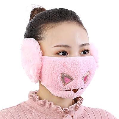 Plush Face Bandanas with Soft Earmuffs, Windpro...
