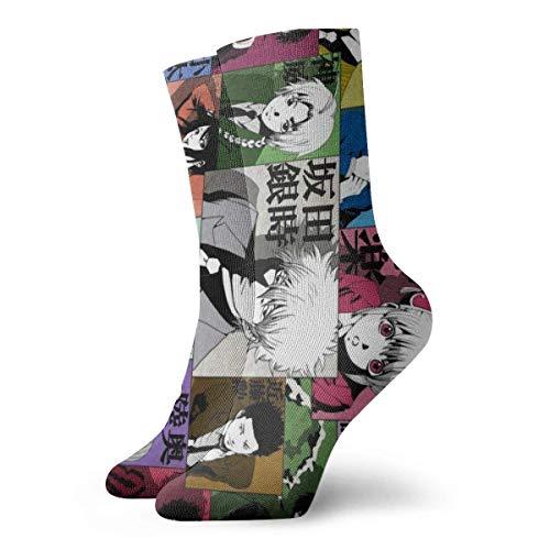 Busin Calcetines de mujer Botas de rodilla alta media pantorrilla regalo novedad calcetines moda algodón boda calcetines novio padrinos tripulación Dr calcetines