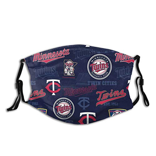 Twins-Fans-Minnesota Outdoor Mask,Protective 5-Layer Activated Carbon Filters Adult Men Women Bandana