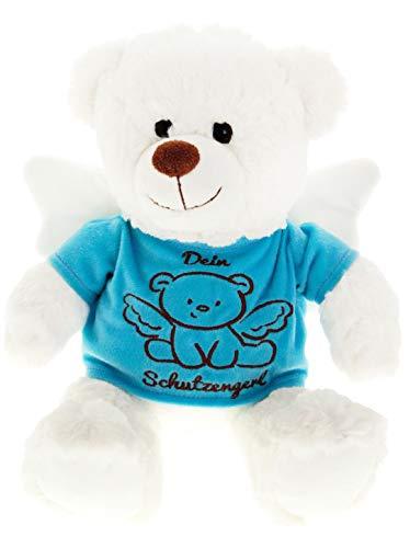 Spiel AG Teddy Teddybär Dein Schutzengel Glücksbringer 25 cm (Blau)