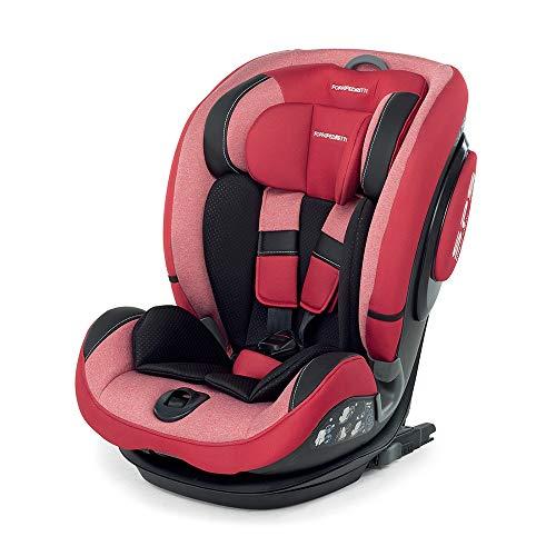 Foppapedretti 9700386601 Isoplus Seggiolino Auto Isofix e Dualfix Gruppo 1/2/3, 9-36 kg, per Bambini da 9 Mesi Fino a 12 Anni, Rosso (Cherry)