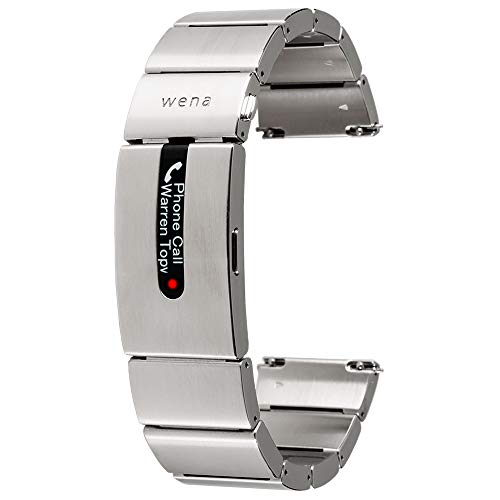 Wena Pro by Sony - Smart Strap for Watches with Contactless Payment, Notifications and Activity Tracking - Silver Stainless Steel