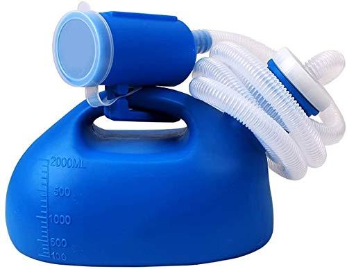 GJJSZ Botella de orinal portátil con tapa para orinal, orinal Toliet para hombres y mujeres, olla de cámara de plástico para hombres y ancianos