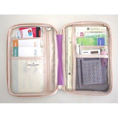 Generic Aufbewahrungstasche für Reisepässe, Flugkarten, Kreditkarten, kleine Gegenstände, Geldbörse, Großhandel, Lila