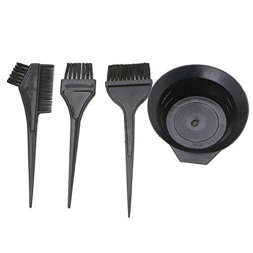 luosh Kit de Teinture de Coloration des Cheveux, 4 pièces Brosses de Coiffure Bol Combo Salon Couleur des Cheveux Dye Tint Tool Set Kit de Coloration des Cheveux
