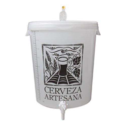 Cerveza Artesana Cubo fermentador 30l con airlock y Grifo antisedimento