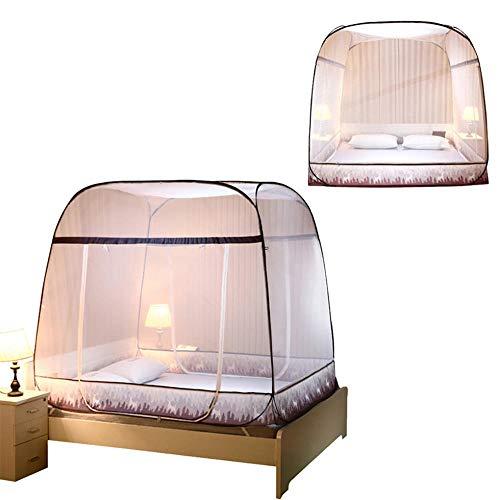 CYOYO Pop-Up Moskitonetz Zelt Faltbare Mongolei Tasche Moskitonetz Für Betten Anti Mosquito Bites Faltendes Design Moskitonetze 2 Größen-200 X 180 X 165 cm