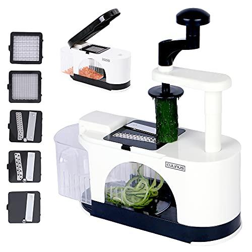 culinus 2-in-1 Gemüseschneider & Spiralschneider (spülmaschinenfest) - praktischer Küchenhelfer mit 2 Funktionen zum Schneiden von Gemüse & Obst