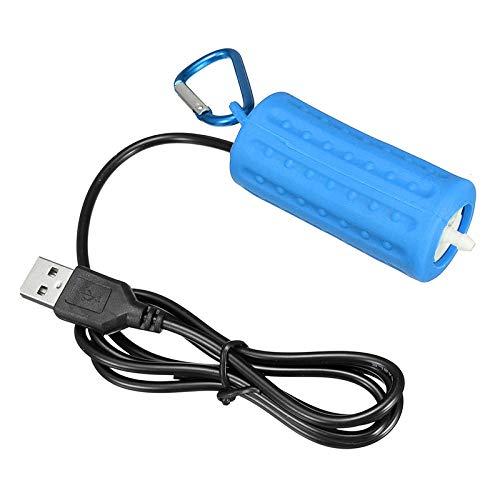 TOOGOO USB Mini Belüftungspumpe Luftpumpe Aquarium Belüfter Ultra Leise Mini Fisch Tank Zum Angeln Sauerstoffpumpe —— Blau