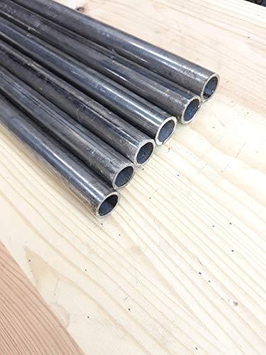 Tubo redondo de 16 mm. en 1,5 mm. de espesor. Hierro normal. Set de 6 uds de 1 metro