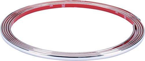 hr-imotion selbstklebende Chrom-Zierleiste - 300cm x 7mm [3M Material | Zuschneidbar | Witterungsbeständig | Hochflexibel] - 12010201