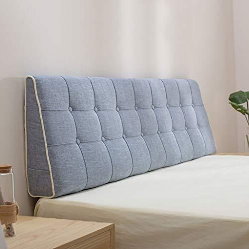 Cuscino da Lettura Reading Pillow Cuscino testiera Cuscino da parete Tessuto lino Cuscino lombare Schienale letto Traspirante Rimovibile lavabile 7 Taglie, 10 colori (90-200 * 15 * 50cm) protezione lo