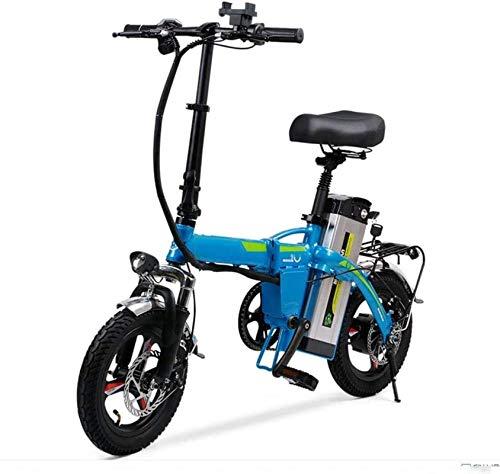 Bicicleta eléctrica Plegable de 14 Pulgadas Adulta con batería de Litio extraíble...