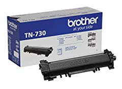 Brother genuine cartridge: Brother TN-730 is a Brother genuine cartridge: that produces mono laser prints in high quality you can depend on. ; Brother Genuine toner produces crisp, sharp prints that withstand the test of time. Yields up to 1,200 Page...