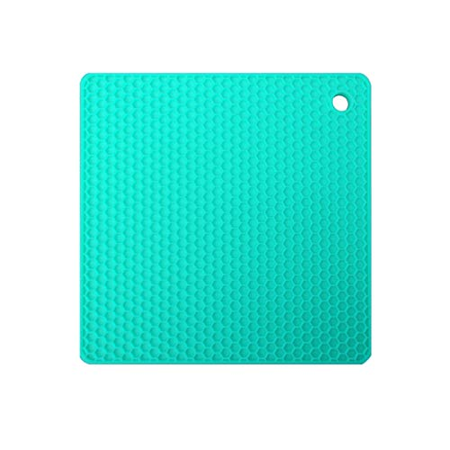 Phoetya Insulation Pads-silicone Insulation Padheat-resistant Pot Matscutlery And Potholdersgas Barbecue Mats(Light blue)