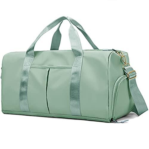 Impermeabile Borsone Weekender Bag Rosa per Le Donne e Gli Uomini di Nuotata di Sport Borsa da Viaggio Borsa da Palestra (L,Green)