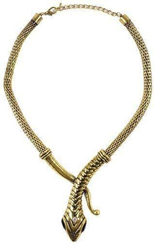 Fancy Me Femmes Or Serpent Cléopâtre Égyptien Costume Déguisement Collier Déguisement Bijoux
