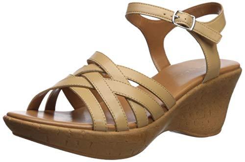 Athena Alexander Women's CASTLEWALK Wedge Sandal, tan, 7 M US