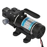 120 W Pompe à eau électrique, 10L/M Amorçage Automatique Pompe à Membrane, Ascenseur de 130 m de Haut Pompe à haute Pression, Protection Contre les Surintensités, for Nettoyeur Haute Pression 12V/10A