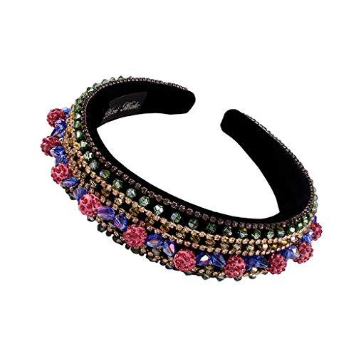 JERKKY Cheveux Cerceau, Cristal Cheveux Cerceau Baroque Large côté Bandeau Femelle Chapeaux décorations Accessoires Cadeaux 15#