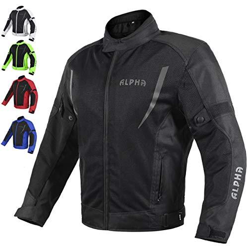 HI VIS MESH MOTORCYCLE JACKET FOR MENS RIDING BIKERS RACING DUAL SPORTS BIKE ARMORED PROTECTIVE…...