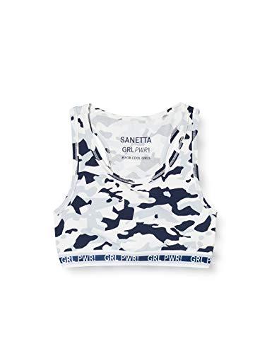 Sanetta Mädchen Light Grey Modisches Bustier mit sportlichem Racerback im angesagten Camouflage-Print #for cool Girls, grau, 152