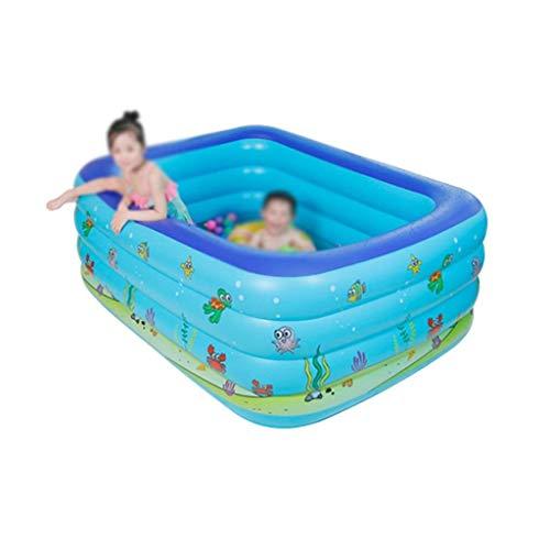 Piscina inflable, portátil plegable flotador de la piscina inflable de la piscina al aire libre, jardín, piscina B acuario juguete piscina Family Water Park (Tamaño: 180 * 150 * 80cm) kairui (Tamaño: