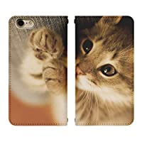 iPhone 8 ベルト無し 手帳型 スマホケース スマホカバー bn365(A) 猫 ねこ ネコ キャット アイフォン8 アイフォンエイト スマートフォン スマートホン 携帯 ケース アイホン8 アイホンエイト 手帳 ダイアリー フリップ スマフォ カバー